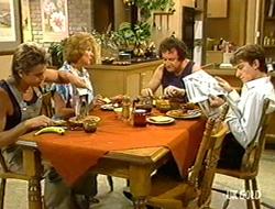 Shane Ramsay, Madge Bishop, Max Ramsay, Danny Ramsay in Neighbours Episode 0234