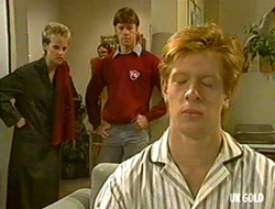 Daphne Clarke, Mike Young, Clive Gibbons in Neighbours Episode 0234