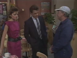 Gail Robinson, Paul Robinson, Rob Lewis in Neighbours Episode 0445