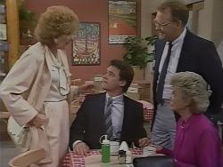 Madge Bishop, Paul Robinson, Harold Bishop, Helen Daniels in Neighbours Episode 0445