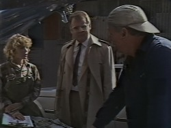 Charlene Mitchell, Harold Bishop, Rob Lewis in Neighbours Episode 0590