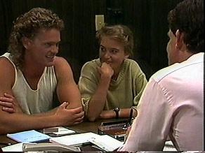 Henry Ramsay, Bronwyn Davies, Des Clarke in Neighbours Episode 0888