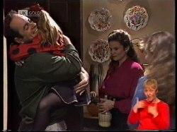 Philip Martin, Hannah Martin, Julie Martin, Debbie Martin in Neighbours Episode 1978