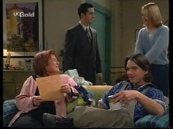 Cheryl Stark, Steve George, Darren Stark, Danni Stark in Neighbours Episode 2679