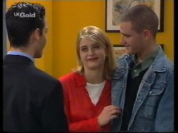 Steve George, Danni Stark, Luke Handley in Neighbours Episode 2679