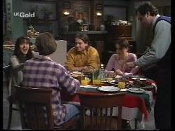 Susan Kennedy, Malcolm Kennedy, Darren Stark, Libby Kennedy, Karl Kennedy in Neighbours Episode 2679