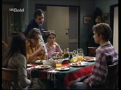Susan Kennedy, Darren Stark, Karl Kennedy, Libby Kennedy, Malcolm Kennedy in Neighbours Episode 2679