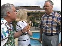 Lou Carpenter, Madge Bishop, Harold Bishop in Neighbours Episode 2770