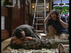 Malcolm Kennedy, Karl Kennedy, Darren Stark in Neighbours Episode 2770