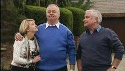 Sky Mangel, Harold Bishop, Lou Carpenter in Neighbours Episode 4605