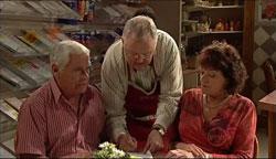 Lou Carpenter, Harold Bishop, Mishka Schneiderova in Neighbours Episode 5102