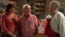 Mishka Schneiderova, Lou Carpenter, Harold Bishop in Neighbours Episode 5102