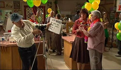 Harold Bishop, Mishka Schneiderova, Lou Carpenter in Neighbours Episode 5102
