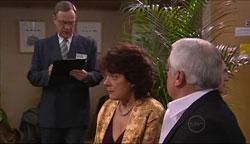 Keith Gilbert, Mishka Schneiderova, Lou Carpenter in Neighbours Episode 5105