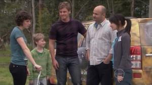 Bridget Parker, Mickey Gannon, Ned Parker, Steve Parker in Neighbours Episode 5388