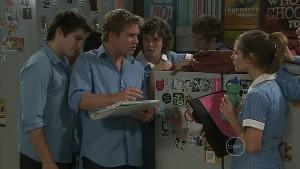 Declan Napier, Ringo Brown, Bridget Parker, Rachel Kinski in Neighbours Episode 5398