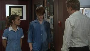 Rachel Kinski, Justin Hunter, Dan Fitzgerald in Neighbours Episode 5398