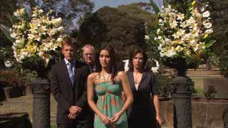 Oliver Barnes, Harold Bishop, Carmella Cammeniti, Rebecca Napier in Neighbours Episode 5492