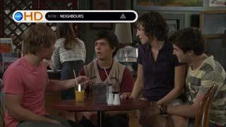 Ringo Brown, Zeke Kinski, Bridget Parker, Declan Napier in Neighbours Episode 5494