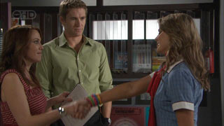 Libby Kennedy, Dan Fitzgerald, Donna Freedman in Neighbours Episode 5496