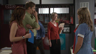 Libby Kennedy, Dan Fitzgerald, Helen Carr, Donna Freedman in Neighbours Episode 5496