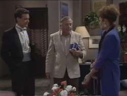 Paul Robinson, Rob Lewis, Gail Robinson in Neighbours Episode 0513