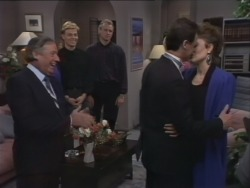 Rob Lewis, Scott Robinson, Jim Robinson, Paul Robinson, Gail Robinson in Neighbours Episode 0513