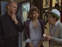 Jim Robinson, Beverly Marshall, Eileen Clarke in Neighbours Episode 0637