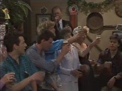 Tony Romeo, Des Clarke, Henry Ramsay, Nell Mangel, Harold Bishop, Madge Bishop, Mike Young in Neighbours Episode 0637