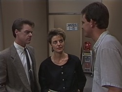Paul Robinson, Gail Robinson, Des Clarke in Neighbours Episode 0690