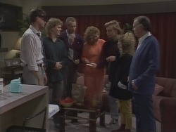 Des Clarke, Henry Ramsay, Jim Robinson, Madge Bishop, Scott Robinson, Charlene Mitchell, Dan Ramsay in Neighbours Episode 0772