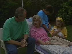 Jim Robinson, Helen Daniels, Todd Landers, Katie Landers in Neighbours Episode 0891