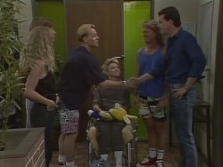 Jane Harris, Mike Young, Scott Robinson, Jenny Owens, Henry Ramsay, Des Clarke in Neighbours Episode 0925
