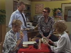 Scott Robinson, Harold Bishop, Des Clarke, Madge Bishop in Neighbours Episode 0962