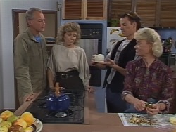 Jim Robinson, Beverly Marshall, Mike Young, Helen Daniels in Neighbours Episode 0962