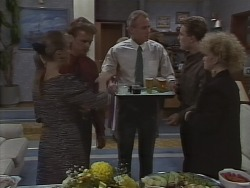 Bronwyn Davies, Henry Ramsay, Jim Robinson, Nick Page, Sharon Davies in Neighbours Episode 1000