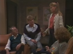 Harold Bishop, Henry Ramsay, Bronwyn Davies, Madge Bishop in Neighbours Episode 1041