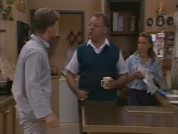 Henry Ramsay, Harold Bishop, Bronwyn Davies in Neighbours Episode 1076