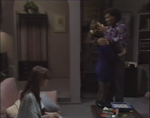 Caroline Alessi, Christina Alessi, Eddie Buckingham in Neighbours Episode 1182