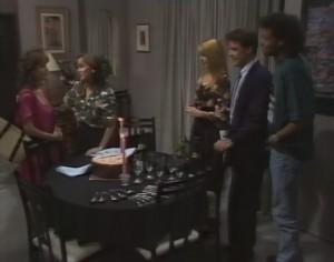 Christina Alessi, Caroline Alessi, Melanie Pearson, Paul Robinson, Eddie Buckingham in Neighbours Episode 1182