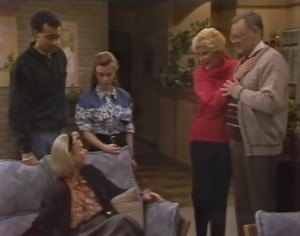 Eddie Buckingham, Helen Daniels, Gemma Ramsay, Madge Bishop, Harold Bishop in Neighbours Episode 1299