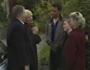 Harold Bishop, Madge Bishop, Eddie Buckingham, Gemma Ramsay, Helen Daniels in Neighbours Episode 1299