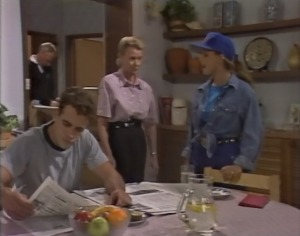 Jim Robinson, Glen Donnelly, Helen Daniels, Lucy Robinson in Neighbours Episode 1403