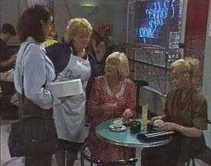 Dorothy Burke, Brenda Riley, Madge Bishop, Helen Daniels in Neighbours Episode 1599