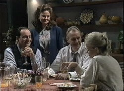 Philip Martin, Julie Martin, Jim Robinson, Helen Daniels in Neighbours Episode 1727