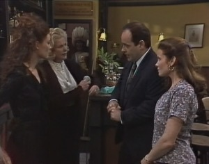 Gaby Willis, Madge Bishop, Philip Martin, Julie Martin in Neighbours Episode 1816