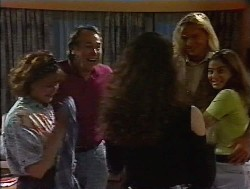 Pam Willis, Doug Willis, Gaby Willis, Brad Willis, Beth Brennan in Neighbours Episode 1849
