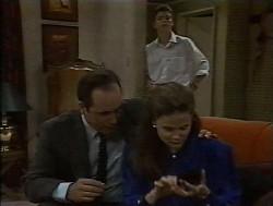 Philip Martin, Julie Robinson, Michael Martin in Neighbours Episode 1849