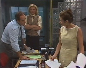 Philip Martin, Brad Willis, Julie Robinson in Neighbours Episode 1864