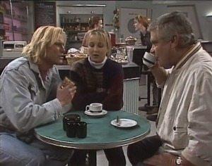 Brad Willis, Lauren Turner, Lou Carpenter in Neighbours Episode 1957